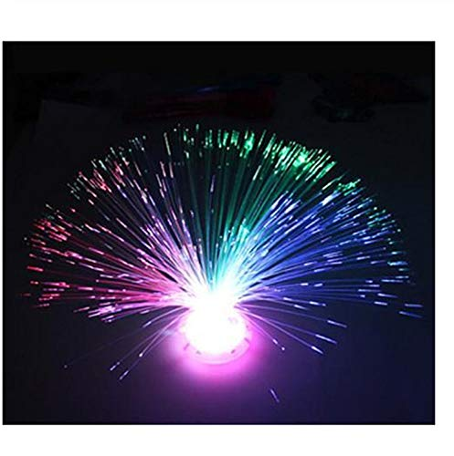 Magic Light LED Fiber Optic Nachtlicht Lampe Bunte Ständer Für Party Xmas Home Decoration Geschenk 7 Farbwechsel (Led-leuchten Optic Fiber)