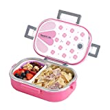 ABTRIX WITH AB Stainless Steel Lunch Box with Removable Divided Container, Leakproof Portion