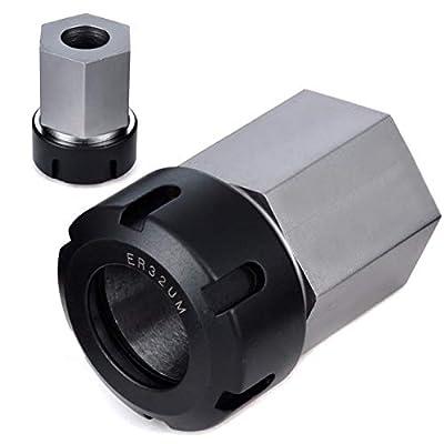 WEIWEITOE Sechsvierkant ER32 Spannzange, schwarz & Silber,
