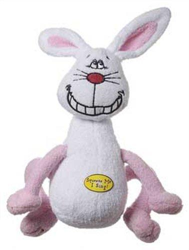 Von Multipet Deedle Dude Singen weiß Kaninchen Plüsch Hundespielzeug, 20,3cm -