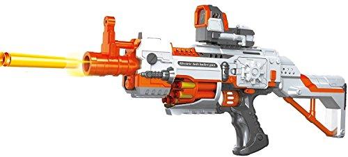 ✩ Sturmtruppen Deluxe Blaster, Elektrisches Gewehr Schnellfeuer Dartblaster, Spielzeugblaster inkl. 20 Schuss Munition gratis! (Star Wars Gun Stormtrooper)