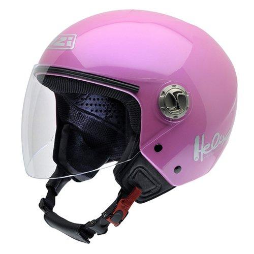 NZI 050203G203 Helix IV Metal Motorcycle Helmet, Pink, Size 54 (XS)