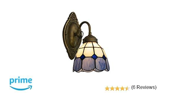 Niuyao lampe applique murale abat jour en verre style tiffany lamp