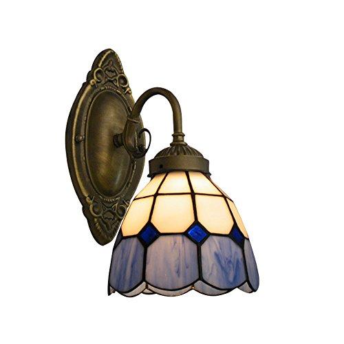 NIUYAO Applique Lámparas de pared Tiffany Lamp Iluminación Bañadores de pared Industrial Retro Ajustable-Azul...