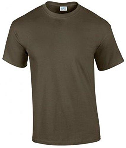 Gildan Ultra Cotton Men's Shirt Short Sleeve T Grün - Olive