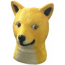 Máscara divertida del perro del dogo de látex Cabeza de animal Sombrero para el partido del vestido de lujo del traje de Halloween