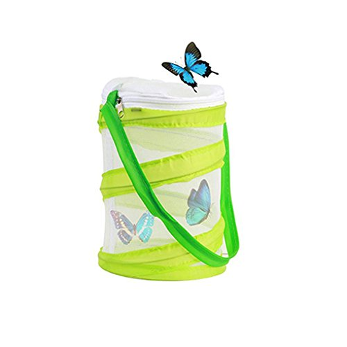 Yeelan Butterfly Habitat Collapsible Bug Catcher Net Mesh Insects Plant  Cage Terrarium Pop-up for Kids/Child/Toddler Catching