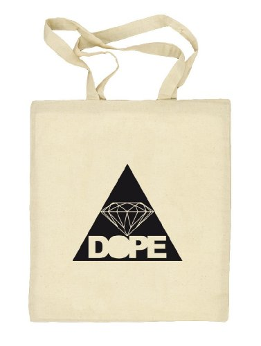 Shirtstreet24, DOPE TRIANGLE, Dreieck Diamant Diamond Stoffbeutel Jute Tasche (ONE SIZE) Natur