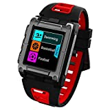OOLIFENG Wasserdicht IP68 GPS-Smartwatch, Multisport-GPS-Uhr, Mit Eingebauten Pulsmesser, Barometer, Höhenmesser, Kompass Für Android und Ios,Red