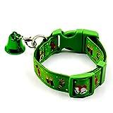 Yulie Weihnachtshalsband für Hunde und Katzen, bequemes verstellbares Hundehalsband mit weihnachtlichem Design für Kleine Hunde