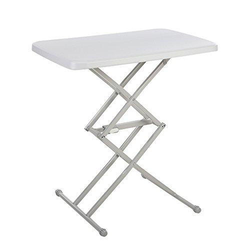 XING ZI Folding table X-L-H Mini-Klapptisch Innentisch Verstellbar Im Freien (Farbe : Weiß) (White X-frame Schreibtisch)
