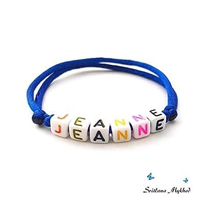 Bracelet JEANNE personnalisé avec prénom (réversible) homme, femme, enfant, bébé, nouveau,né.