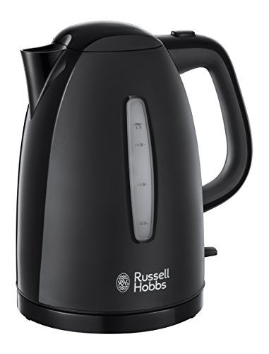 Russell Hobbs Textures Plastic Kettle 21271, 1.7 L, 3000 W - Black Best Price and Cheapest