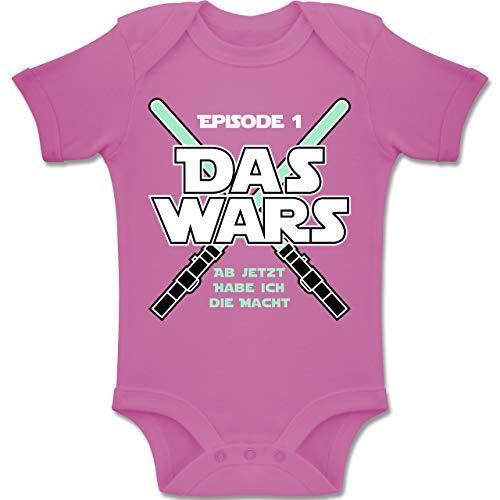 Shirtracer Zur Geburt - Das Wars Jetzt Habe ich die Macht Junge - 1-3 Monate - Pink - BZ10 - Baby Body Kurzarm Jungen Mädchen Da Tex Video