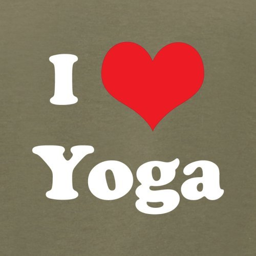 I Love Yoga - Herren T-Shirt - 13 Farben Khaki