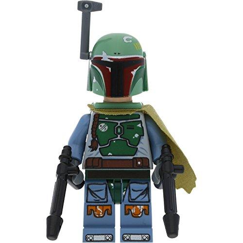 LEGO Star Wars Minifigur Boba Fett Kopfgeldjäger aus Dessert Skiff incl. 2 GALAXYARMS Waffen