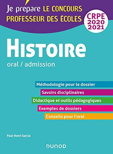 Histoire - Professeur des écoles - Oral / admission - CRPE 2020-2021
