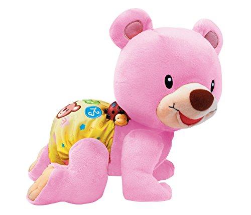 VTech Osito gateos, Oso Peluche Interactivo, Suave Animal gateador Que estimula la curiosidad del bebé y Anima a Seguir imitándolo, Color Rosa (3480-181157)