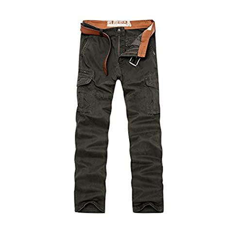 WALK-LEADER Mens Cotton Trendy Combat Brigade Working Pants Durable Military Trousers Army UK Size