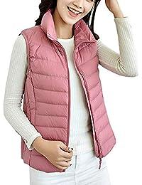 0d83fe39b8663e Oudan Women s Down Gilet Coat Vest Ultra Light Weight Packable Puffer Jacket  (Color   Pink