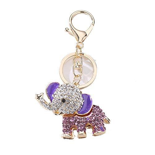 DYEWD Elephant Key Buckle/Alliage de Zinc Trousseau/Cadeau de la personnalité créative Cadeau/décoration de Bijoux,Violet