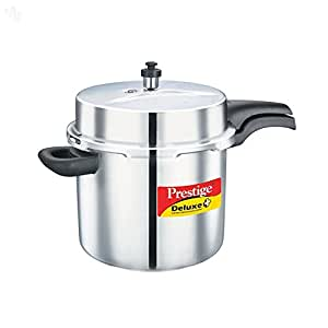 Prestige Deluxe Alpha Stainless Steel Pressure Cooker, 10 Litres