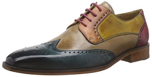 Melvin & HamiltonJeff 14 - Scarpe Stringate Uomo , Multicolore (Multicolore - Mehrfarbig (Infant Turquoise, Powder, Orange, Sun, Pink, LS)), 46