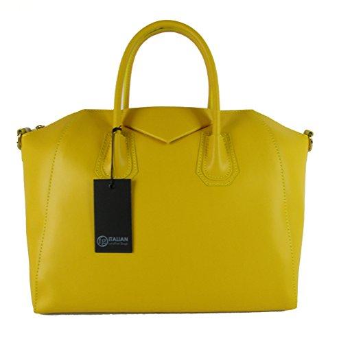 borsa da donna tipo GIVENCHY in vera pelle manifattura fiorentina (giallo)