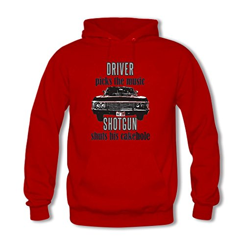 HKdiy Driver picks the music Custom Men's Printed Hoodie Red-2