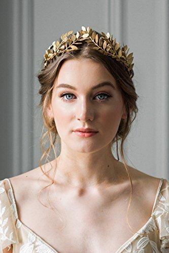 (kercisbeauty Vintage Stil Barock baroco Oliver-, Gold, mit Schmuck-Braut-Diadem Hochzeit Krone mit Strass-Perlen-Kreuz-Ohrringe Pageant Krone für die Braut oder Brautjungfer, Party)
