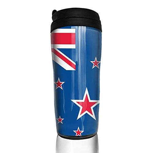 Travel Coffee Mug Originality New Zealand Flag 12 Oz Spill Proof Flip Lid Water Bottle Environmental Protection Material ABS