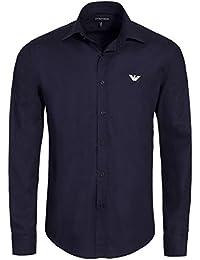 Emporio Armani - Chemise bleu marine pour homme