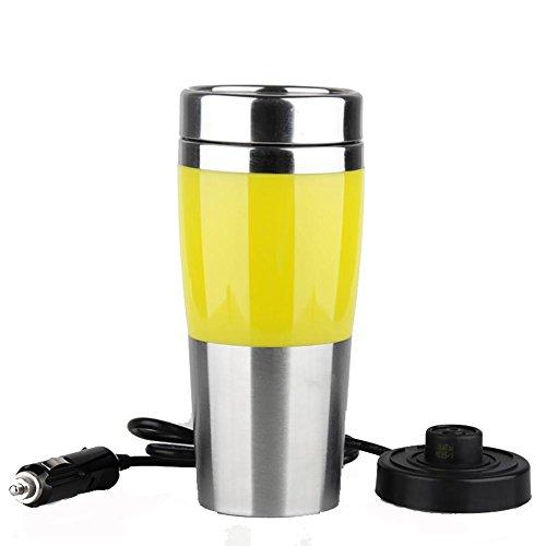 Preisvergleich Produktbild Tasse Auto Wasserkocher Kochen 12 V / 24 V Zigarettenanzünder Heizung Cup Vakuumisolierte Edelstahl 410ML 50 Watt Reise Cup,  12V