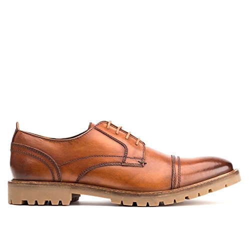 Base London Mens Pike Leather Shoes Bronzage