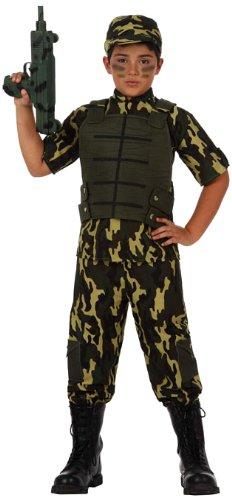 Atosa-10954 Disfraz Militar, Color verde, 10 a 12 años (10954