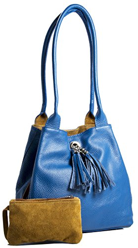 Big Handbag Shop, Borsa a mano donna One Electric Blue