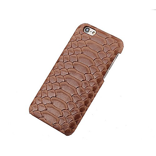 Coque iPhone 6 Plus Levanpro Bovins Cacher Full Grain Véritable Cuir en Relief Housse Etui pour iPhone 6 Plus / iPhone 6s Plus (Brun clair) BrunClair