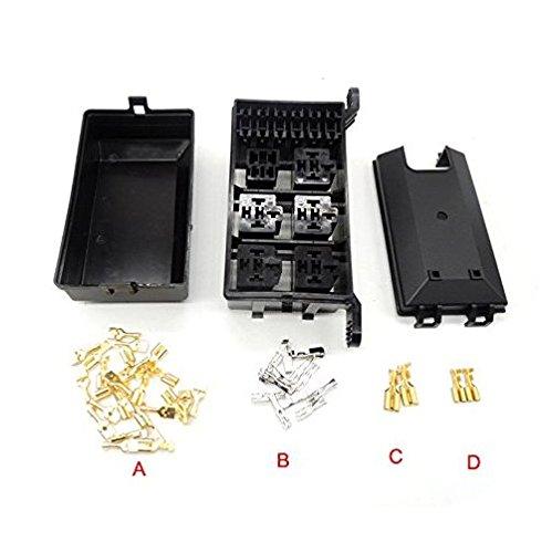 Preisvergleich Produktbild cnkf 1Set Auto Sicherungskasten 6Relay Relais Halter 5Road der Gondel Versicherung KFZ Versicherungen