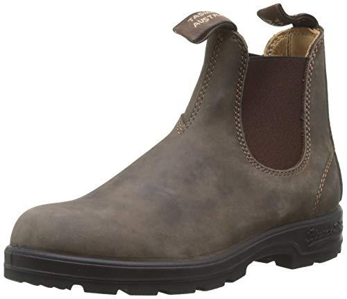 BLUNDSTONE Classic Comfort 585, Unisex-Erwachsene Chelsea Boots, Braun (Rustic Brown), 47 EU (12 UK)