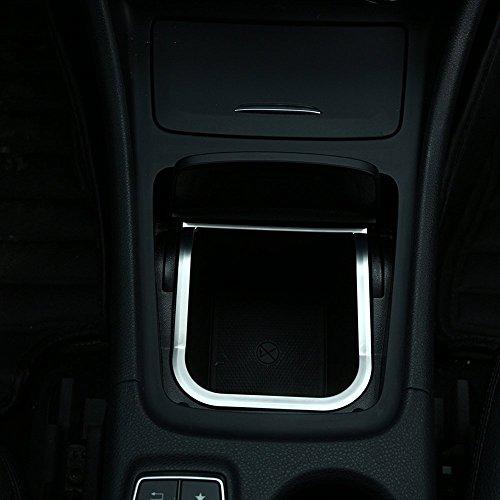 Carbon ABS Chrom Dekoration Center Aufbewahrungsbox Zubehör Rahmen Cover Trim Aufkleber für CLA 2014–2016GLA 2013–2016A-Klasse 2013–2016