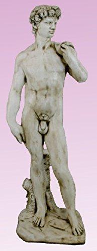 Statue David von Stein für Garten oder Außen 117cm (David-statue)