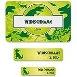 Striefchen® 177 Schuletiketten für Schulkinder Motiv: Dinosaurier mit Wunschname Ideal zur Einschulung oder Schulanfang