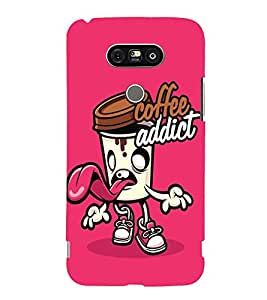 Takkloo coffee addict coffee love, coffee designcute covergirly cover) Printed Designer Back Case Cover for LG G5 :: LG G5 Dual H860N :: LG G5 Speed H858 H850 VS987 H820 LS992 H830 US992