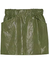 754b16f4ef Zara Women's Faux Leather Mini Skirt 3046/064 Green