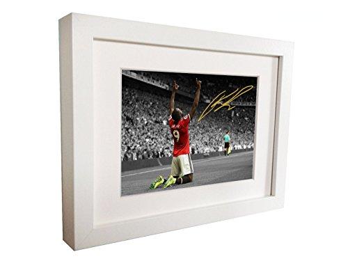 Unterzeichnet Romelu Lukaku Manchester United Autogrammkarte Foto Bilderrahmen Geschenk