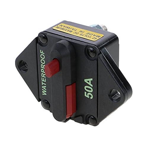 Gazechimp Voiture Fusible Boîte Support Circuit Uniiversel Camion Audio 12-24V ATC ATO Marine Étanche - 50A