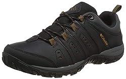Columbia Herren Woodburn II Trekking und Wanderhalbschuhe, Schwarz (Black, Goldenrod), 42,5, BM39230109.5_010