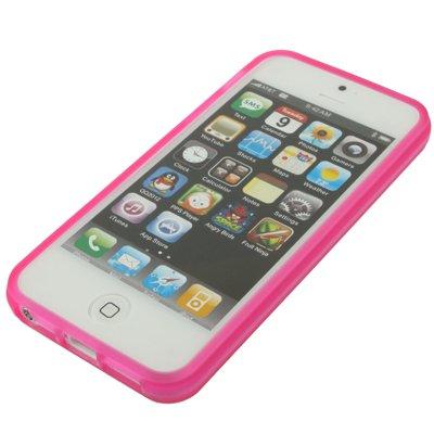 """Haute Qualité pour iPhone 5/5S Coque/Case/Cover en Silicone Pink/Rose de style """"de nettoyage Scrub-Original seulement de thesmartguard"""