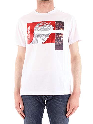 Versace Jeans B3GTB72A36609 T-Shirt Mann Weiss XS (Versace Männer-t-shirt Für)
