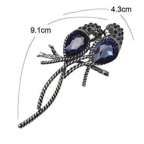 General purpose EIN Paar von Stiften und Silber-Zink-Legierung Tiere Vögel, Spleiß Bulk eingelegtem glänzenden blauen Kristalle